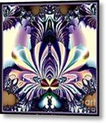 Fractal 26 Jeweled Tone Lotus Flower Metal Print