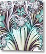 Fractal Abstract Fantasy Flower Garden 2 Metal Print