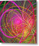 Fractal - Abstract - Loopy Doopy Metal Print by Mike Savad