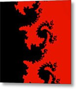 Fractal Black Dragons Metal Print