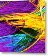 Fractal - Butterfly Wing Closeup Metal Print