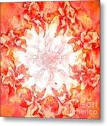 Fractal Carnation Metal Print