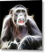 Fractal Chimp Metal Print