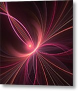 Fractal Dancing With The Light Metal Print