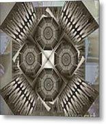 Fractal Design Number Nine Metal Print by Doris Wood