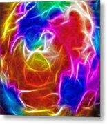 Fractal Egg Metal Print by Steve Ohlsen
