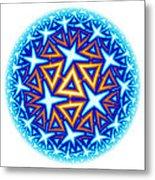 Fractal Escheresque Winter Mandala 10 Metal Print