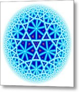 Fractal Escheresque Winter Mandala 4 Metal Print