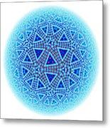 Fractal Escher Winter Mandala 5 Metal Print