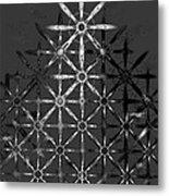 Fractal Flakes Metal Print