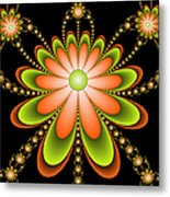 Fractal Floral Decorations Metal Print
