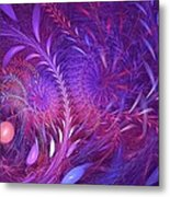 Fractal Flower Fields Metal Print