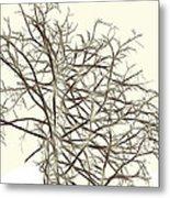 Fractal Ghost Tree - Inverted Metal Print