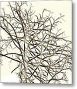 Fractal Ghost Tree - Inverted Metal Print by Steve Ohlsen