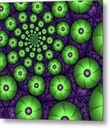 Fractal Green Shapes Metal Print