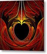 Fractal - Heart - Victorian Love Metal Print