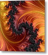 Fractal Heat - A Fractal Abstract Metal Print