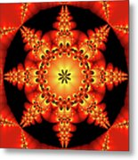 Fractal In The Centre Metal Print