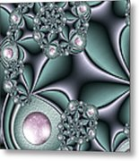 Fractal Jewellery Metal Print