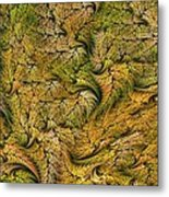 Fractal Leaf Mat-- 2 Metal Print