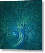 Fractal Marine Blue Metal Print