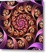 Fractal Multicolored Depth Metal Print
