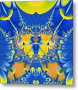 Fractal Owl Metal Print