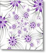 Fractal Purple Flowers Metal Print