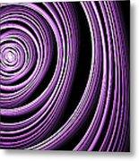 Fractal Purple Swirl Metal Print