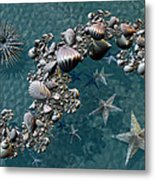 Fractal Sea Life Metal Print
