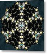 Fractal Seahorses Metal Print