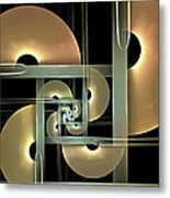 Fractal Semicircles Metal Print