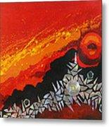 Fractal Sunrise Metal Print