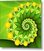 Fractal Sweet Yellow Fruits Metal Print