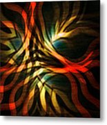 Fractal Swirl Metal Print