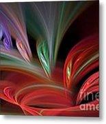 Fractal Vortex Swirl Metal Print