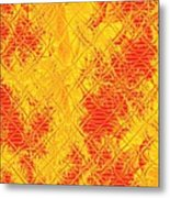 Fractalia For Red And Yellow Colors V Metal Print