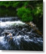 Fractalius - River Wye Waterfall - In Peak District - England Metal Print