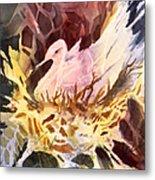Fractured Fowl Metal Print
