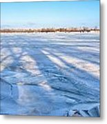 Fractured Ice On The River Metal Print