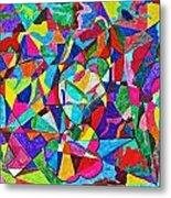 Fractured Kaleidoscope Metal Print