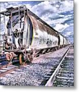 Graffiti Train Metal Print