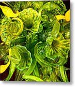 Fragile Flowers Palm Springs Metal Print