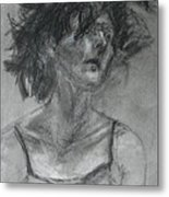 Gathering Strength - Original Charcoal Drawing - Contemporary Impressionist Art Metal Print