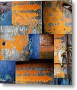 Fragments Antique Metal Metal Print by Ann Powell