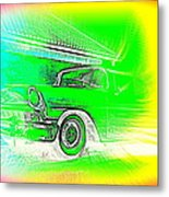 In Your Future I Can See Fragments Of An Old Car Called Bel Air  Metal Print