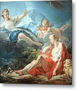 Fragonard's Diana And Endymion Metal Print