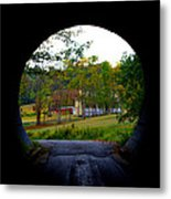 Framed By A Tunnel Metal Print