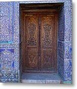 Framed Door In Kheiva Metal Print