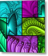 Framed Neon Colors Metal Print